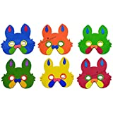 Perpetual Bliss (Pack Of 10) Foam Eye Mask For Kids/Birthday Theme Party Decoration Supplies/Return Gifts/Animal Theme