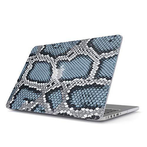 bel Für MacBook Air 13 Zoll Modell: A1466 / A1369 Blau Schlange Pattern Cobra Snake Print Plastik Case ()