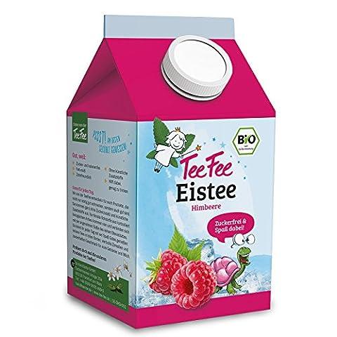 TeeFee Bio Eistee Getränk Himbeere, 8er Set (8 x 0,5l), ohne Zucker und ohne Kalorien