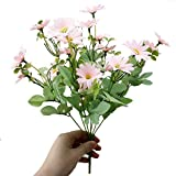 RYcoexs 1 Bouquet de Fleurs Artificielle de Marguerite en Plastique de Plante...