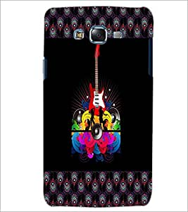 PrintDhaba Guitar D-3184 Back Case Cover for SAMSUNG GALAXY ON 5 (Multi-Coloured)