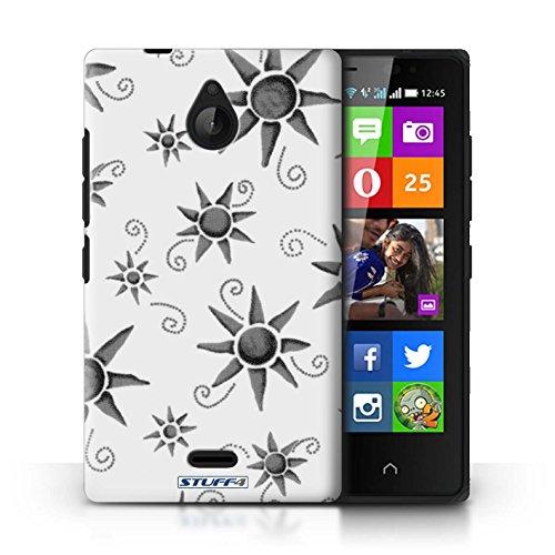Kobalt® Imprimé Etui / Coque pour Nokia X2 Dual Sim / Vert/Bleu conception / Série Motif Soleil Noir/Blanc