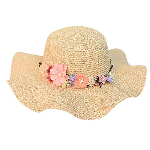 Produp Women Beach Straw hat Jazz Sunshade Panama Trilby Fedora Hut Kranz Cap würdevoll und großzügig Nizza und komfortable Hut