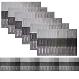 famibay tischl ufer und tischsets waschbar vinyl platzdeckchen set von 6 mit passenden. Black Bedroom Furniture Sets. Home Design Ideas