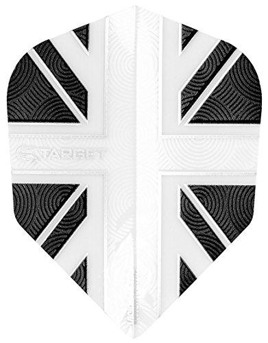 Target Vision Ultra Union Jack Klar/Grau Nr. 6Standard Form Dart Flights (Klar, Dart Flights)