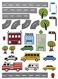 Unbekannt 29 tlg. Set: XXL Wandtattoo / Sticker - Straße mit Auto ´s zum Spielen ! - Wandsticker Aufkleber Fahrzeuge Auto