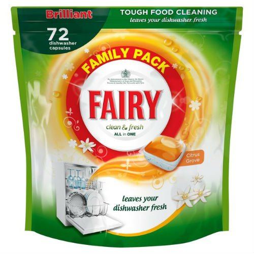 Fairy Clean & fresh lavastoviglie Agrumeto 72per confezione di 3