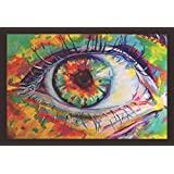 Mad Masters Mystic Eye 1 Piece Wooden Framed Painting |Wall Art | Home Décor | Painting Art | Unique Design | Attractive Frames