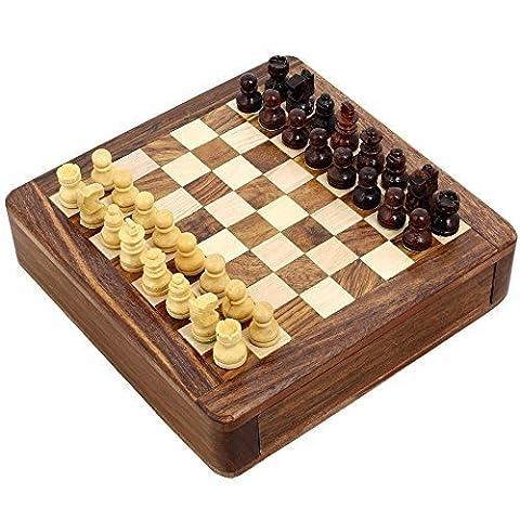 Magnetspielzeug Schachspiel Holz Und Gesellschafts Spiele Und 12,7 X 12,7 Cm Reisespiele - Geschenke für (Spiel Des Jahres Liste)