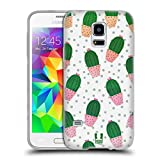 Head Case Designs Muster Kaktus Drucke Soft Gel Hülle für Samsung Galaxy S5 Mini
