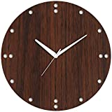 #10: Studio Shubham Stylish Circular Numbers Wooden Wall Clock (26.5X26.5X3CM)