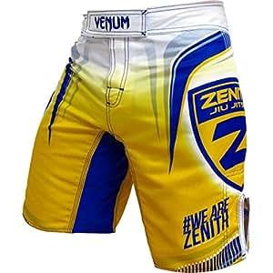 """Venum short zenith """"team""""-blanc/jaune-taille xS"""