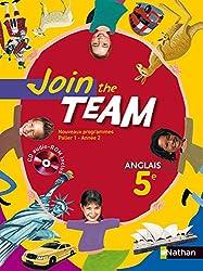 JOIN THE TEAM 5E 2007 + CD AUDIO-ROM Livre scolaire