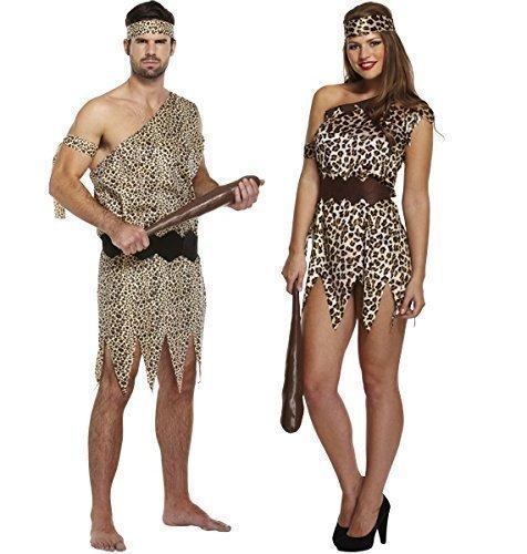 Herren, Damen und Paare Caveman Höhlenfrau passenden Kostüm (Kostüme Paare Passende)