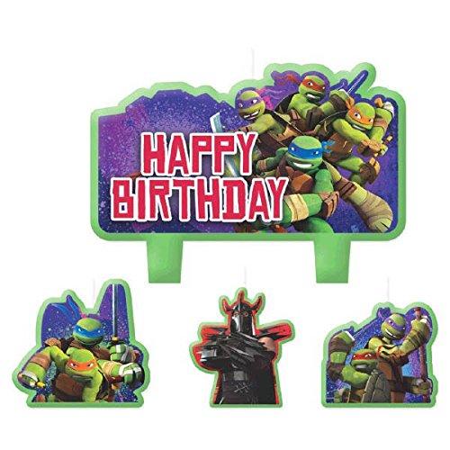 TMNTTM Mini-Kerzen, geformt, für Partys (Cupcake Ninja Dekorationen Turtle)