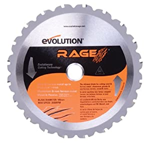 Evolution Power Tools 7-1/4-Inch Multipurpose Cutting Blade for Steel