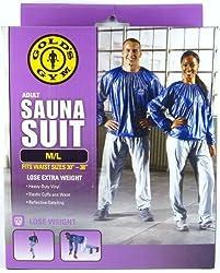 Golds Gym Adult Sauna Suit M/L Fits Waist Sizes 30 - 38