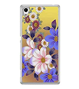 Fuson Designer Back Case Cover for Sony Xperia Z3+ :: Sony Xperia Z3 Plus :: Sony Xperia Z3+ dual :: Sony Xperia Z3 Plus E6533 E6553 :: Sony Xperia Z4 (white Flowers Purple Flowers Red Flowers Flower Bouquet Flower Buds)