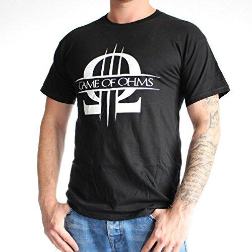 Dampfer T-Shirt - Game of Ohms, Farbe:weiß;Größe:L