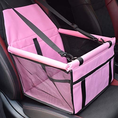 zhengao Zuverlässiges Falten Pet Car Booster Sitz Puppy Cat Dog Auto Carrier Travel Protector Basket(None pink.) -