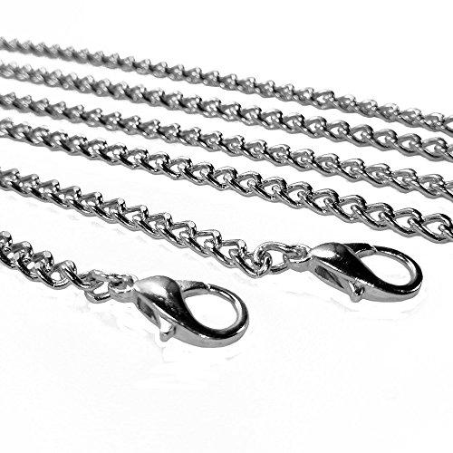 Btik Long Metall Strap Handtasche Ketten Geldbörse/Schulter/Cross-Body-Tasche Träger 46in lang Karabinerverschluss stabile Metall-Schnallen gold / silber silber
