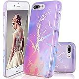 GopeE IPhone 7 Plus Case,iPhone 8 Plus Case, Marble Design Clear Bumper TPU Soft Case Rubber Silicone Skin Cover For IPhone 7 Plus (2016)/iPhone 8 Plus (2017) - B07H1HQMC8