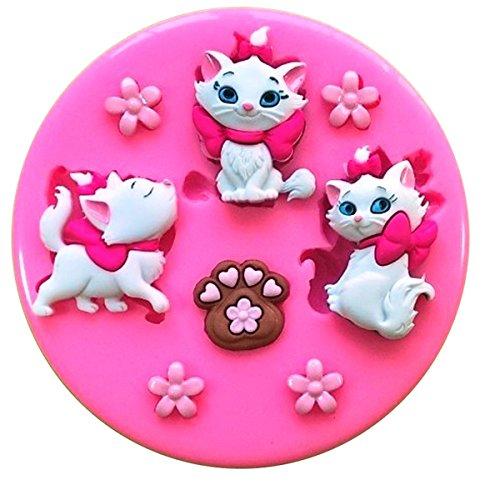 Fairie Blessings Silikonform für dekorative Kuchen, Motiv: Marie von Aristocats, niedliche Kätzchen, für Dekorationen aus Zuckerguss