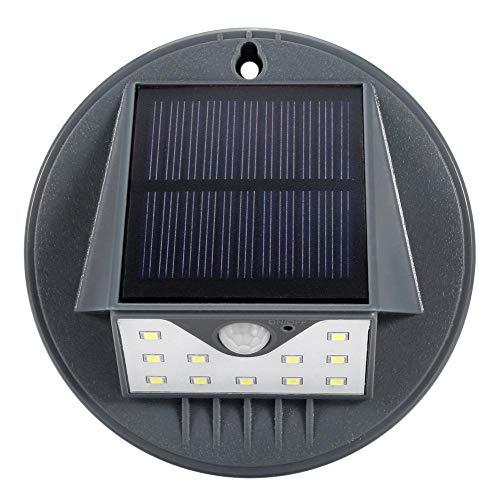 Riuty 4er Pack LED Solar Wandleuchte, solarbetriebene Induktionsleuchte für den menschlichen Körper für den Garten im Freien -