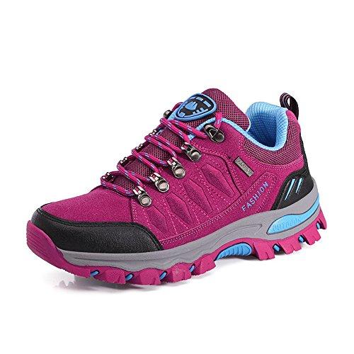 Dreamshow Wanderschuhe Trekking Schuhe Herren Damen Wanderhalbschuhe Leichte Atmungsaktive Outdoor Hiking Schuhe Sneake 42 EU Pink