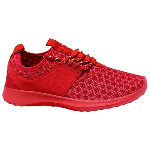 MYSHOESTORE Trainers, Scarpe indoor multisport donna Nero nero 35.5 Rosso (rosso)