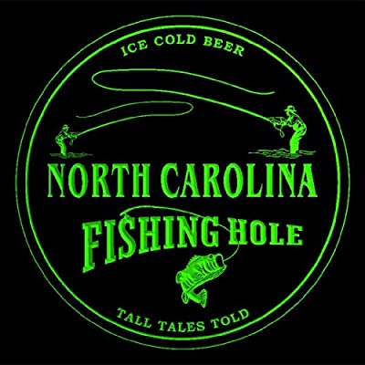 4x ccqx2033-g NORTH CAROLINA Fly Fishing Hole Ale Bar Beer 3D Drink Coasters from ADV PRO