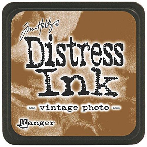 Ranger Mini Stempelkissen, Farbe: Gealtertes Mahagoni Vintage Photo - Distress Papier