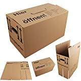 20x Umzugskartons Umzugskisten mit Schmetterlingsboden MyPackBox (Profi) Stabil + 2-Wellig Umzug Karton Kisten Verpackung Bücher Schachtel 600 x 330 x 340 (MyFly)