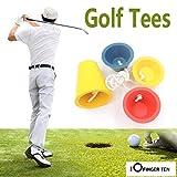 FINGER TEN Tee da Golf in Gomma Invernale, Winter Golf Tees Confezione da 4 Pezzi, Multipli Colore Rosso/Giallo/Blu (4 Pack)