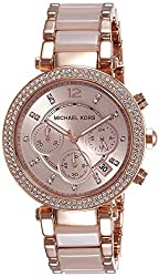 Michael Kors Analog Rose Dial Womens Watch - MK5896I