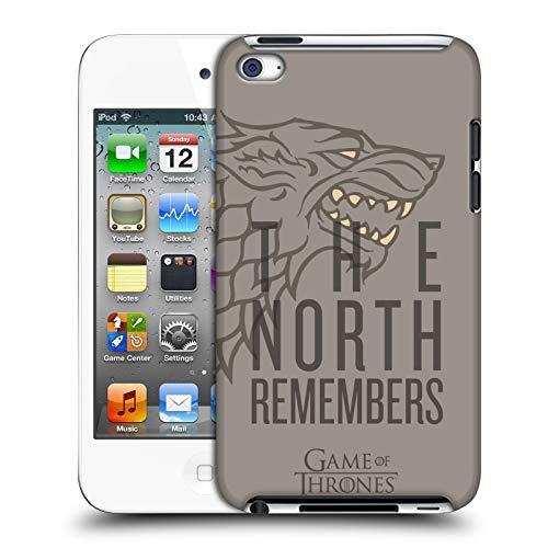 Head Case Designs Offizielle HBO Game of Thrones Stark Staffel 8 Fuer Den Thron Kunst Harte Rueckseiten Huelle kompatibel mit Apple iPod Touch 4G 4th Gen
