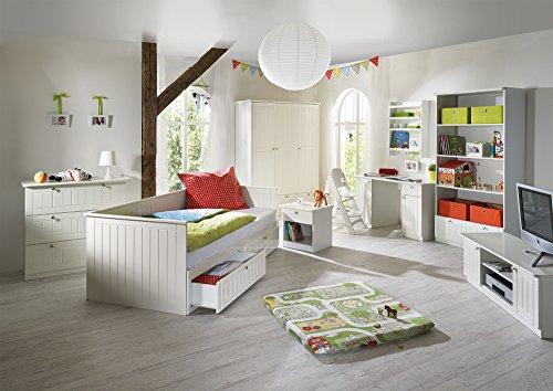 Roba tagesbett dreamworld 3 zum doppelbett ausziehbares for Jugendzimmer doppelbett