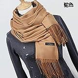 HAZVPO Sciarpa Scialle Scialle Sciarpa Invernale Sciarpe Coperta Lunga da Donna-YR001 Camel