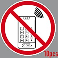 10 Aufkleber 15cm Sticker Handy Telefon Smartphone Verbot Handyverbot Hinweis