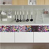 JY ART AF003 - Wand-Aufkleber Küche Deko Badezimmer-Gestaltung - Küchen-Fliesen überkleben - Dekorative Bad-Gestaltung - Fliesen-Aufkleber - 20*20cm*6pcs, 20X20cm