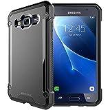 TECHGEAR® Samsung Galaxy J5 2016 (Séries SM-J510) [FUSION ARMOUR] Coque Protective Svelte Anti-Choc (Noir Entier)