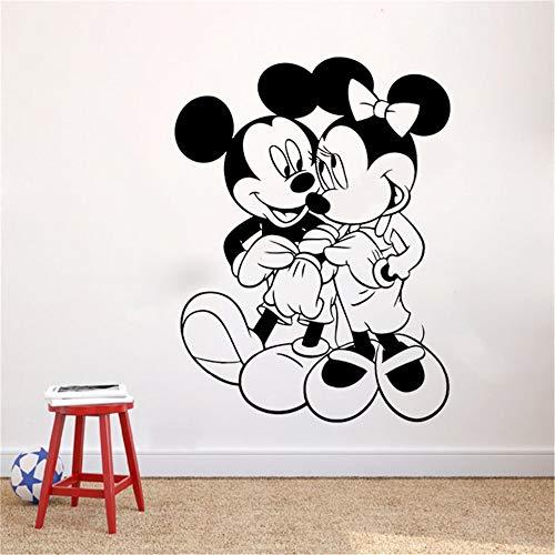 Wandtattoo Kinderzimmer Wandtattoo Wohnzimmer Mickey Maus Wandaufkleber Aufkleber Mickey Und Minnie Maus Wandaufkleber Diy Design Dekoration Vinyl Art Removeable Poster Wandbild