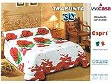 Trapunta 3D Digitale CAPRI Misura: 2 Piazze (matrimoniale) 260 x 260 cm Composizione: 100%microfibra Imbottitura : 100% polyestere