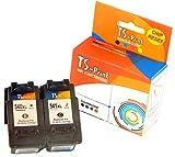TS-Print 2er-Set Tintenpatronen ersetzt Canon PG-540-XL schwarz black + CL-541-XL drei-farbig tri-color