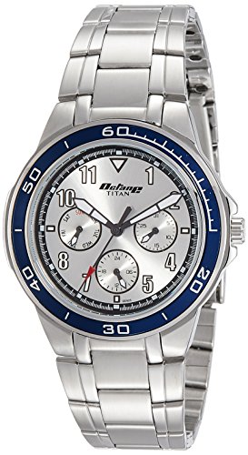Titan Octane Analog White Dial Men's Watch - 90039KM03J