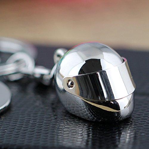 tuqiang® Creative Motorrad Fahrrad bewegliche Sonnenschutz Helm Auto Schlüsselanhänger Ring Schlüsselanhänger Schlüsselanhänger Motorrad Anhänger