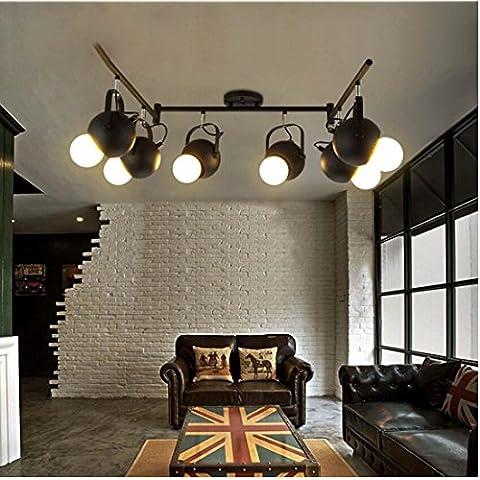 SSBY-vintage industrial, iluminación led de iluminación de pista, salón, comedor, bar, American polo, la tienda de ropa spotlight , un