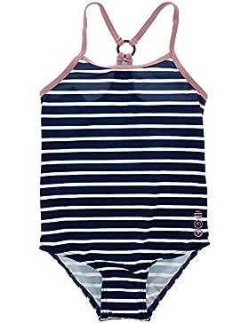 Minymo Bañador de una pieza para niña, Protección 50+ UV, Color: Rayas azules, 170678