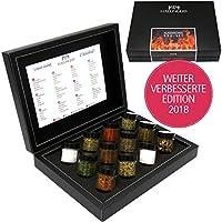 Hallingers GewürzMix Klassisches BBQ-Set, 12 x Miniglas in DesignKarton, 1er Pack (1 x 190 g)