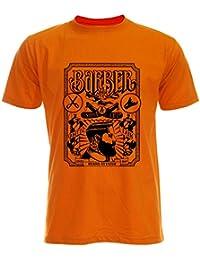 PALLAS Unisex's Beard Vintage Barber Shop T-Shirt